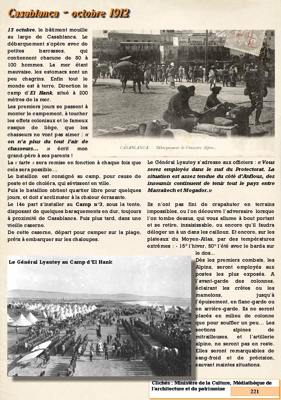 L'Historique du 14e Bataillon de Chasseurs. 1854 - 1962 221_pa10