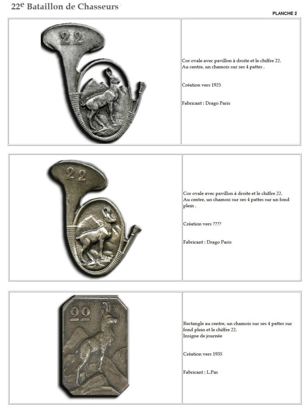 Les insignes de bataillons- Mise à jour... - Page 2 22e_pl11