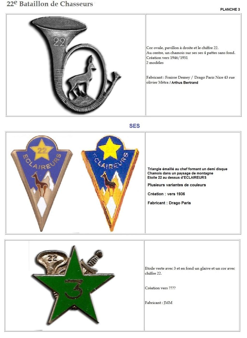 Les insignes de bataillons- Mise à jour... - Page 2 22e_pl12