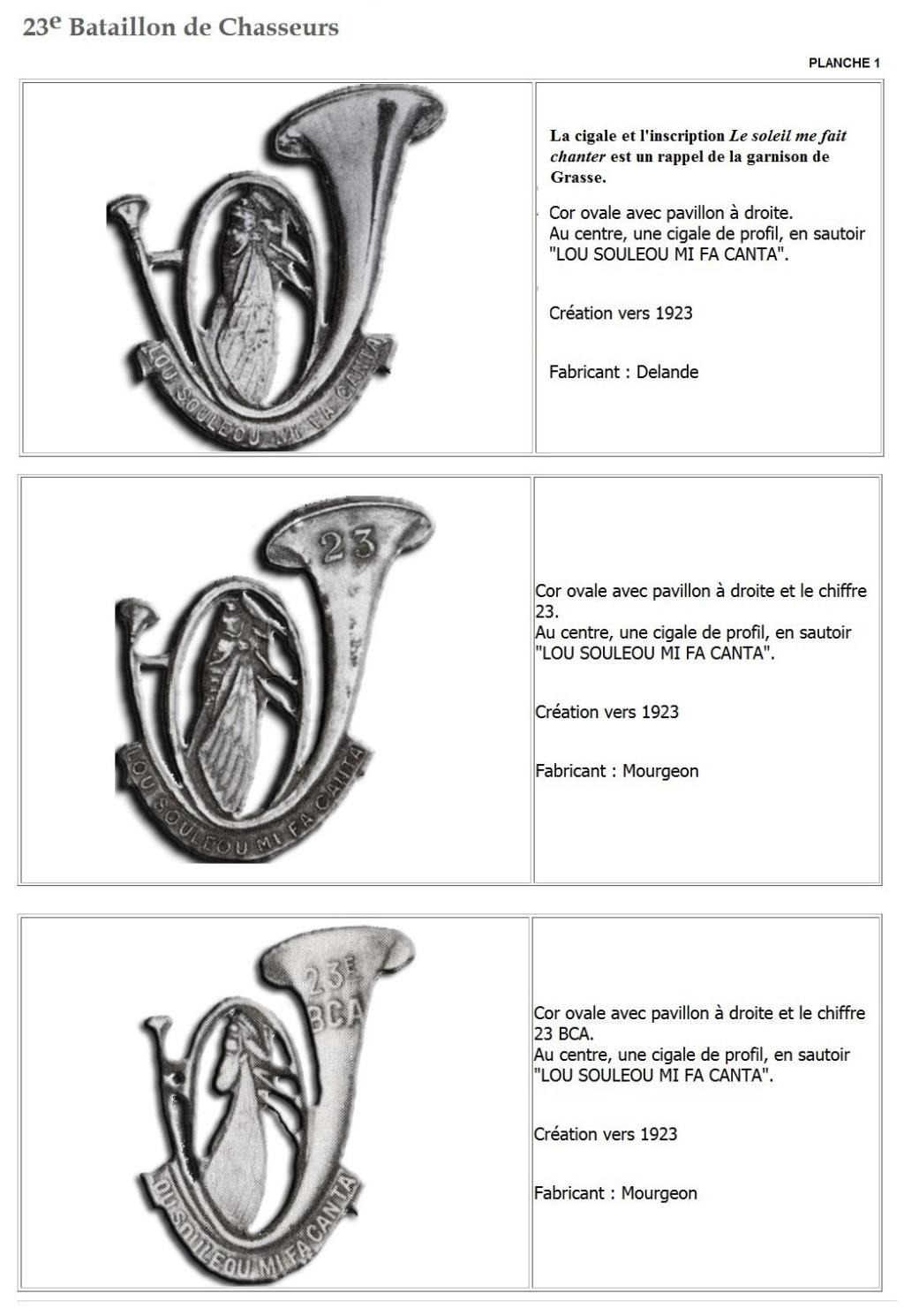 Les insignes de bataillons- Mise à jour... - Page 2 23e_pl11