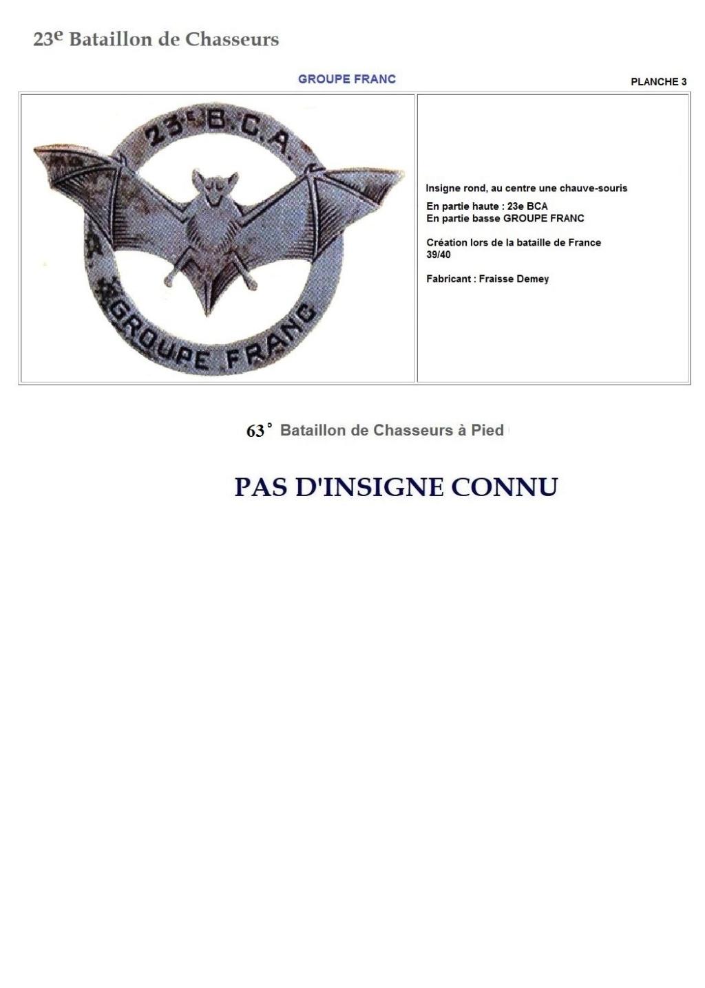 Les insignes de bataillons- Mise à jour... - Page 2 23e_pl13
