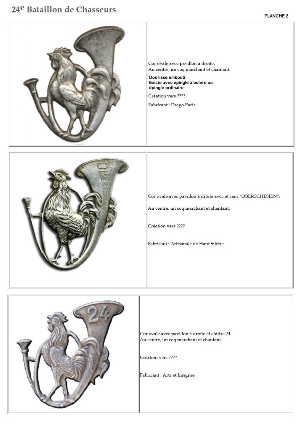 Les insignes de bataillons- Mise à jour... - Page 2 24e_pl11