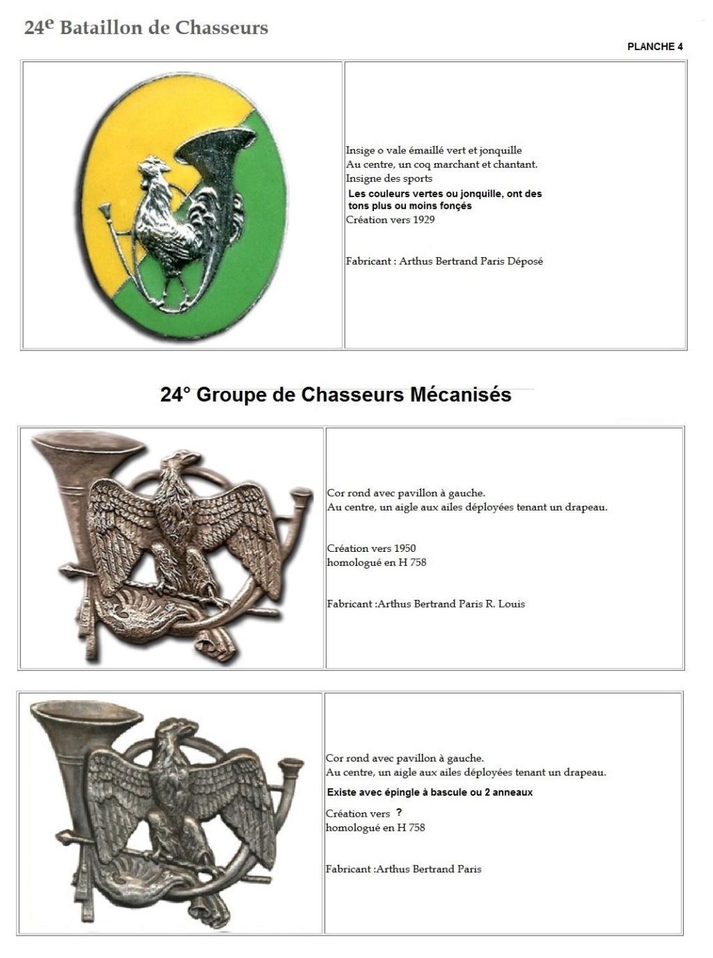 Les insignes de bataillons- Mise à jour... - Page 2 24e_pl13