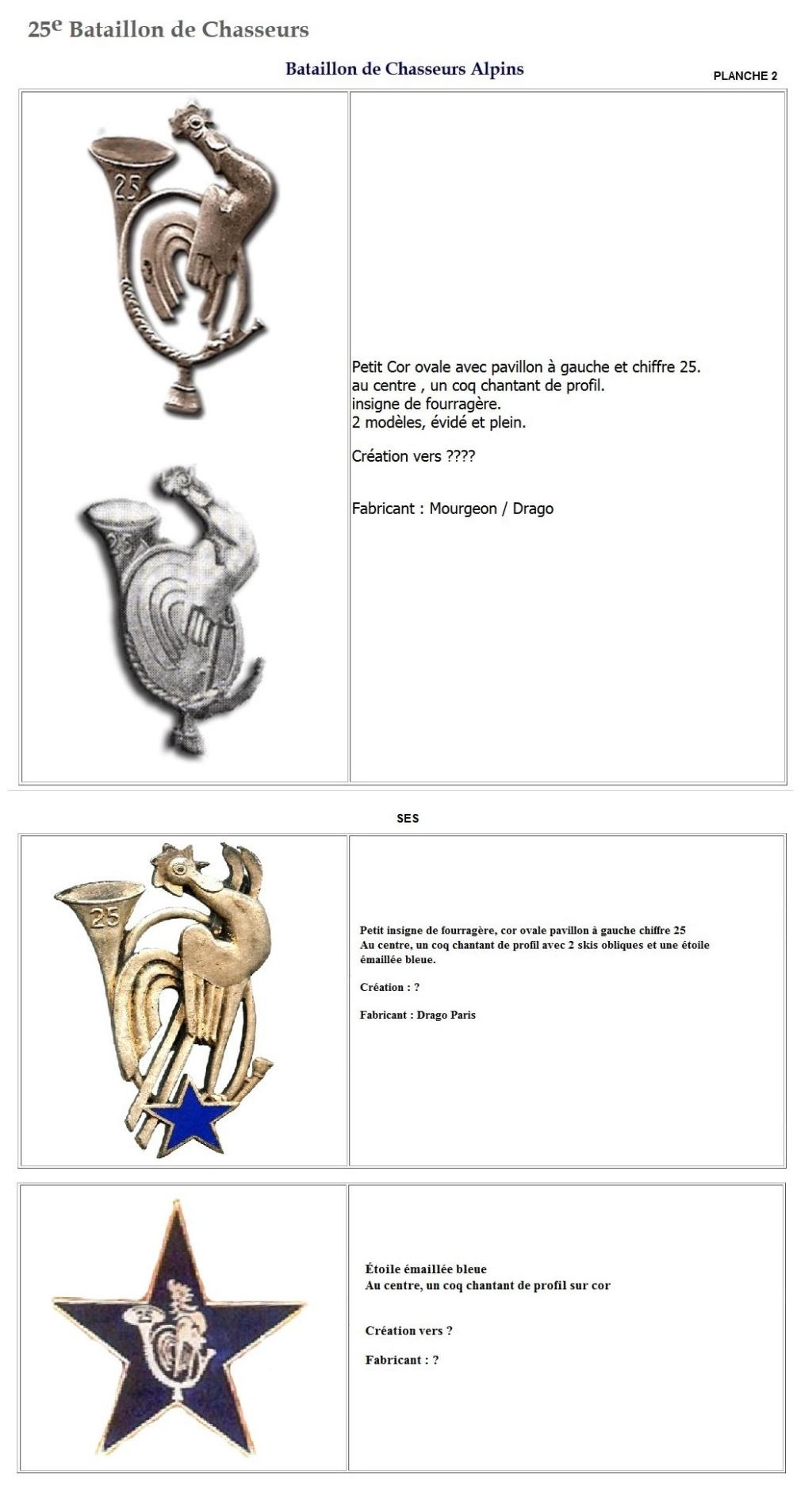 Les insignes de bataillons- Mise à jour... - Page 2 25e_pl12