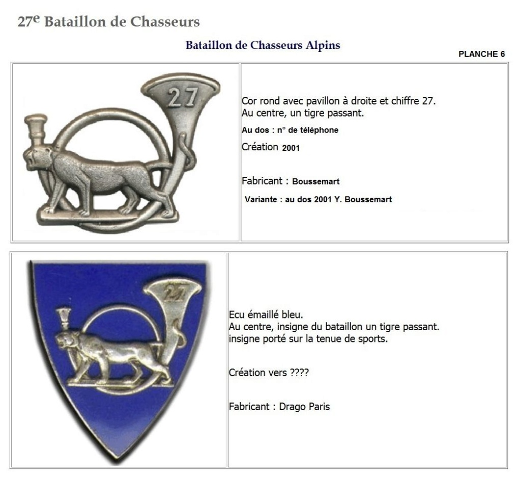 Les insignes de bataillons- Mise à jour... - Page 3 27e_pl15