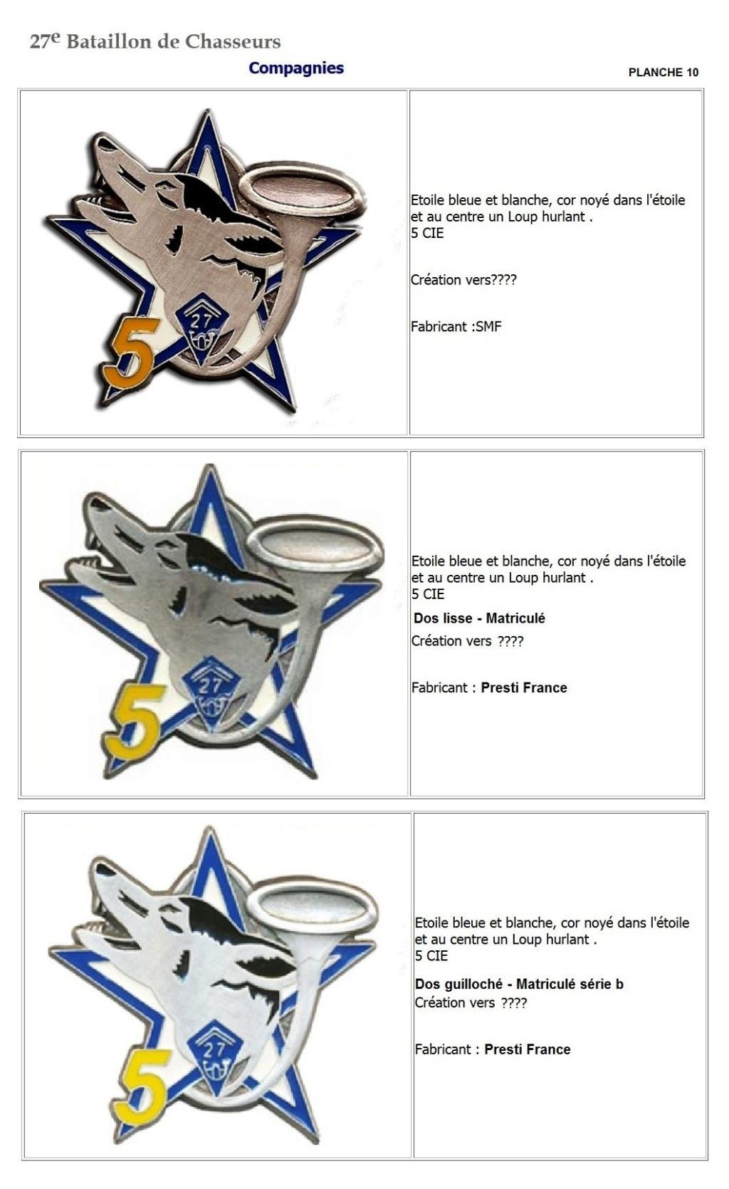Les insignes de bataillons- Mise à jour... - Page 3 27e_pl21