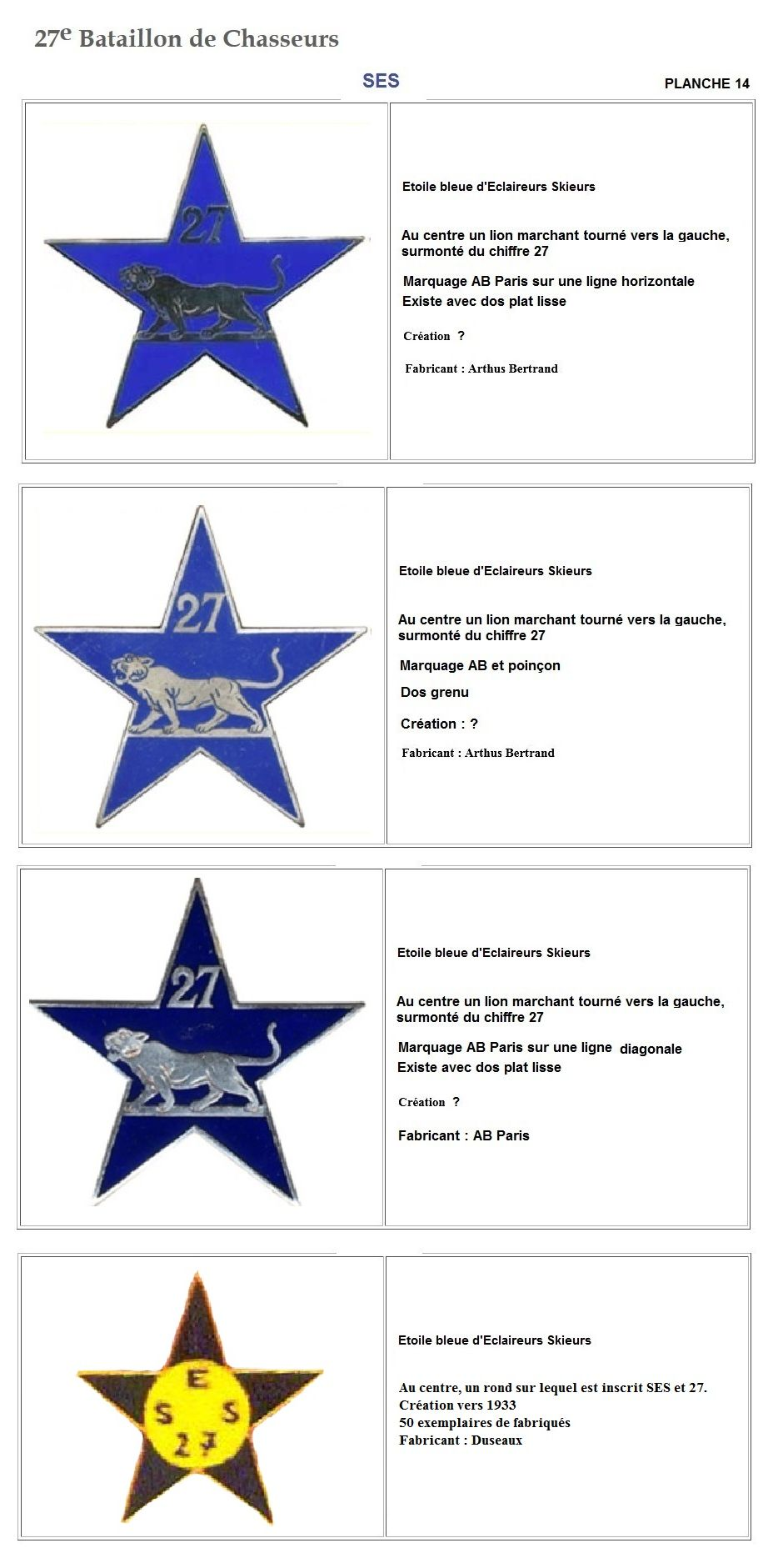 Les insignes de bataillons- Mise à jour... - Page 3 27e_pl24