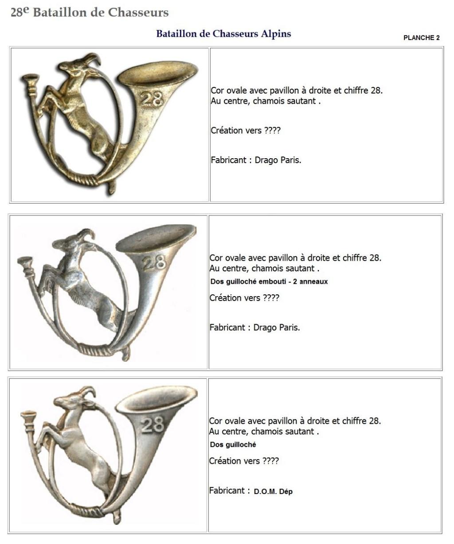 Les insignes de bataillons- Mise à jour... - Page 3 28e_pl11