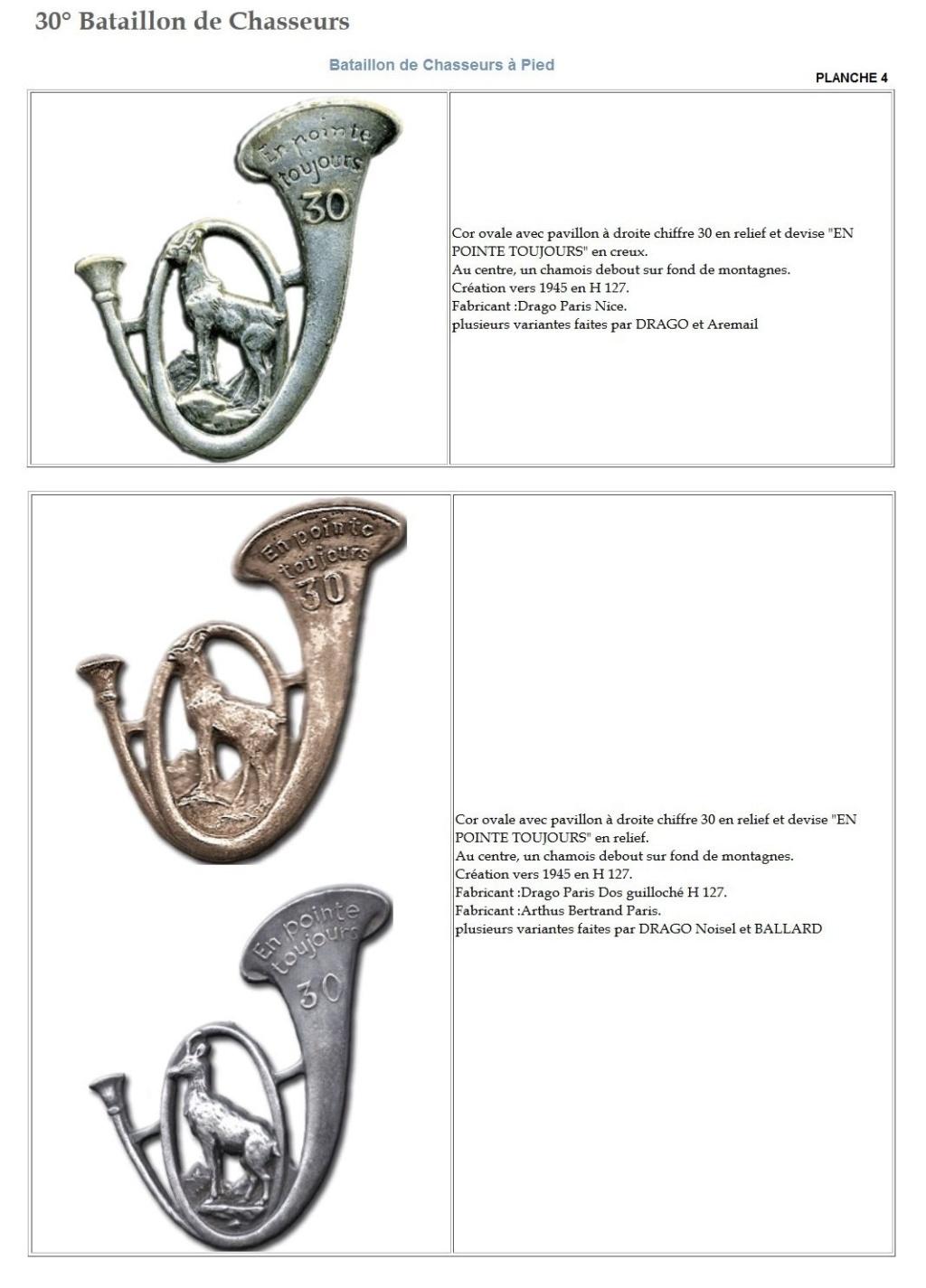 Les insignes de bataillons- Mise à jour... - Page 3 30e_pl13