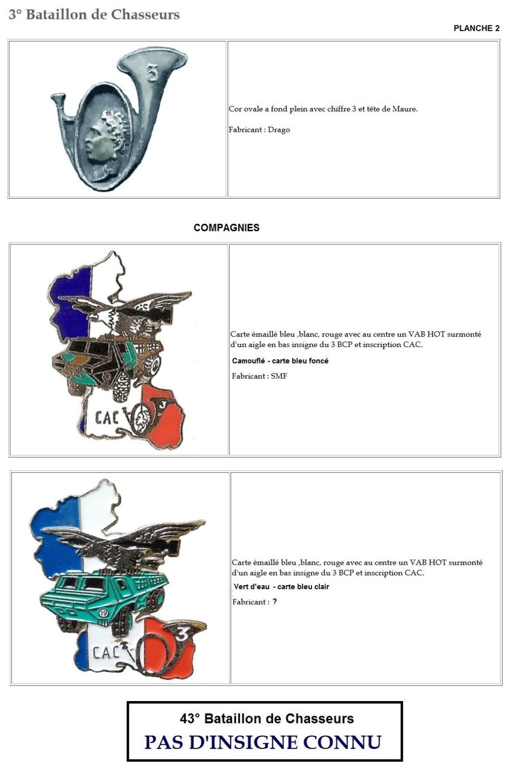 Les insignes de bataillons- Mise à jour... 3e_pla10