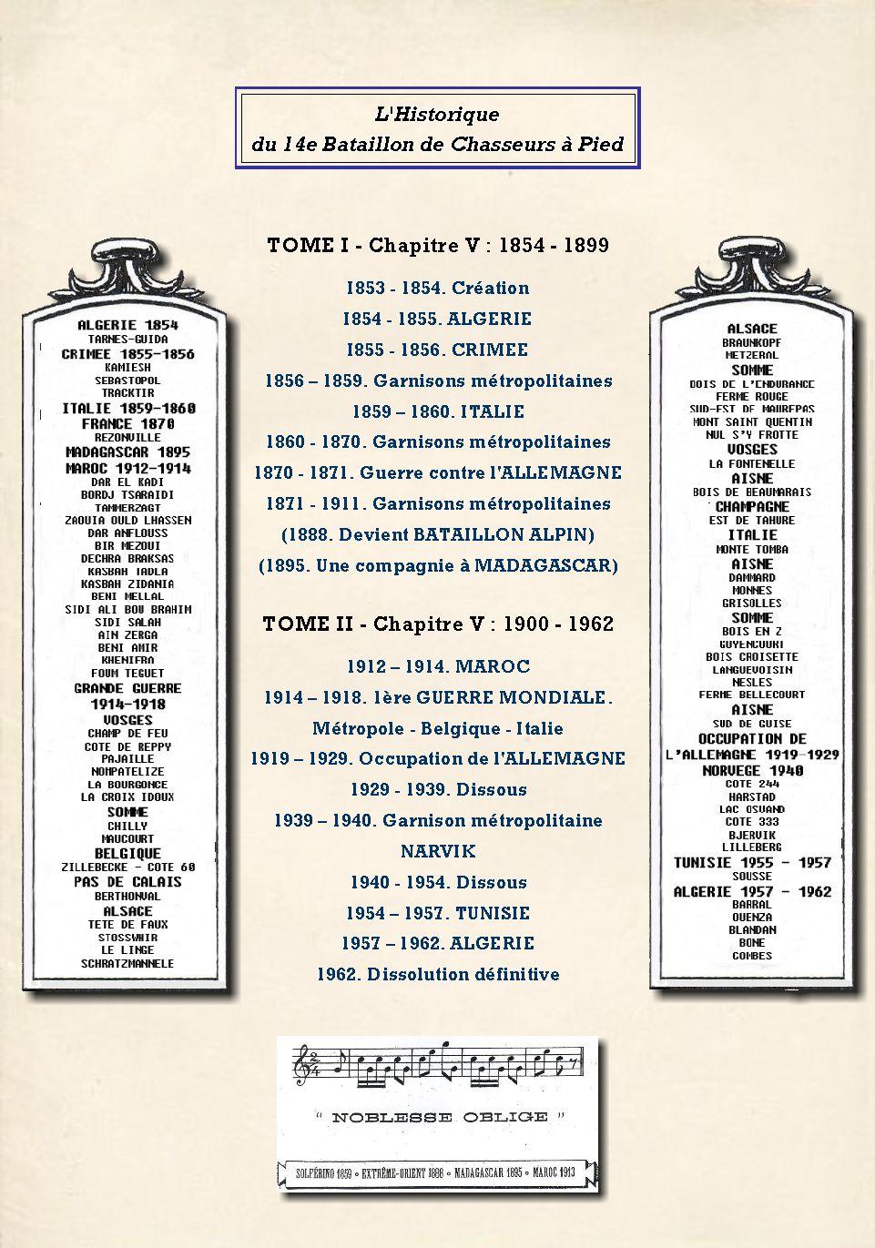 L'Historique du 14e Bataillon de Chasseurs. 1854 - 1962 4_przo10