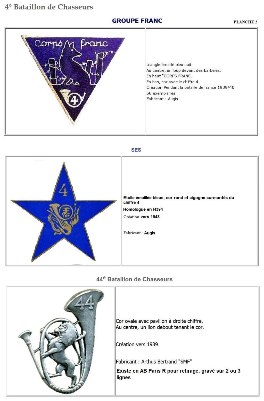 Les insignes de bataillons- Mise à jour... 4e_pla12
