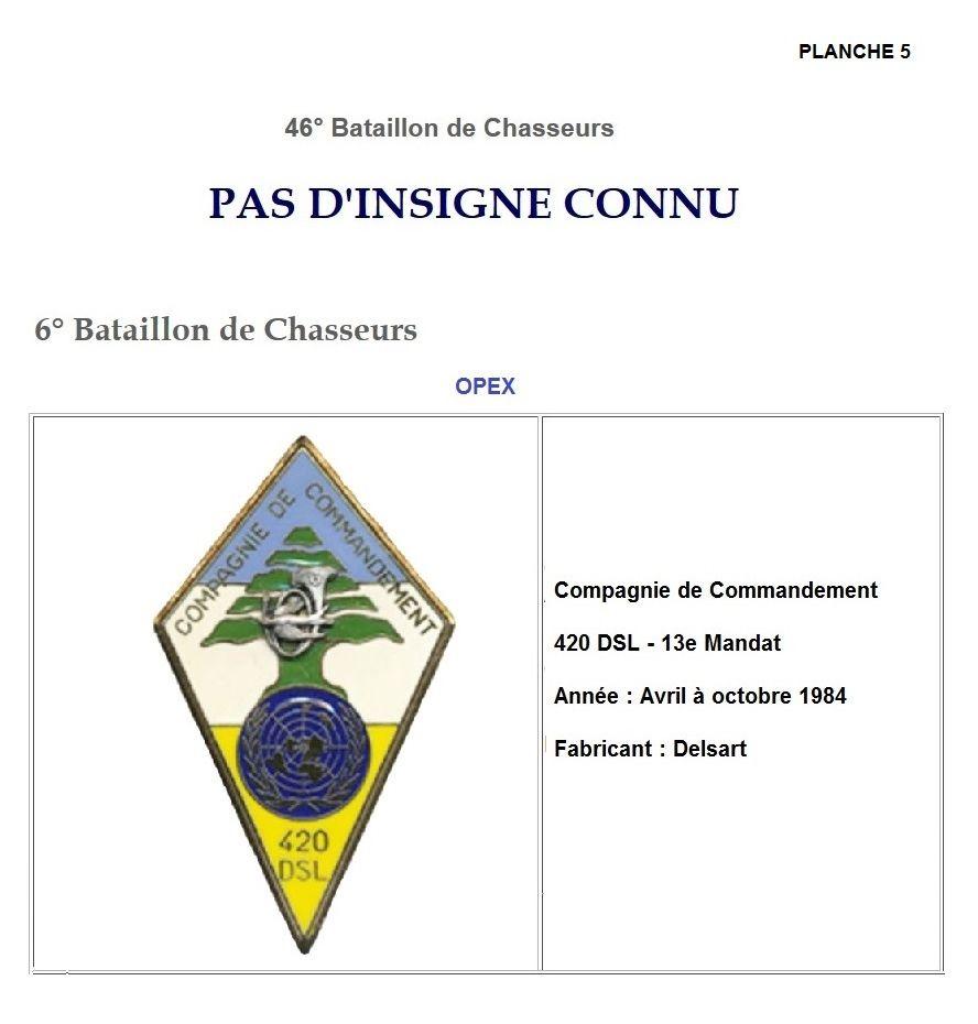 Les insignes de bataillons- Mise à jour... 6e_pla13