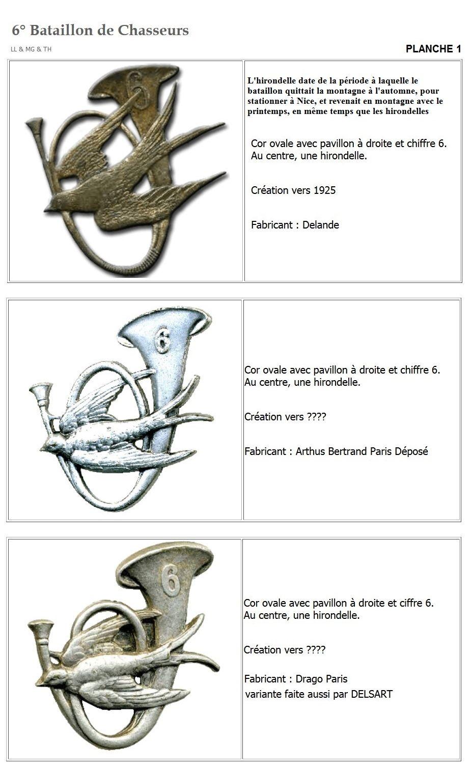 Les insignes de bataillons- Mise à jour... 6e_pla15