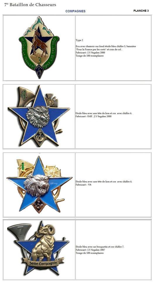 Les insignes de bataillons- Mise à jour... 7e_pla11