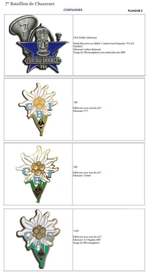 Les insignes de bataillons- Mise à jour... 7e_pla13