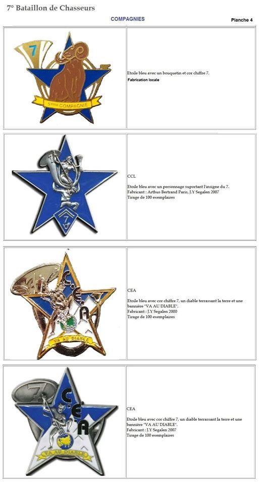 Les insignes de bataillons- Mise à jour... 7e_pla14
