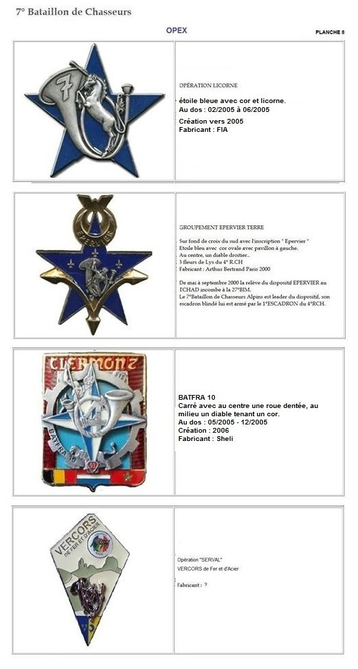 Les insignes de bataillons- Mise à jour... 7e_pla15