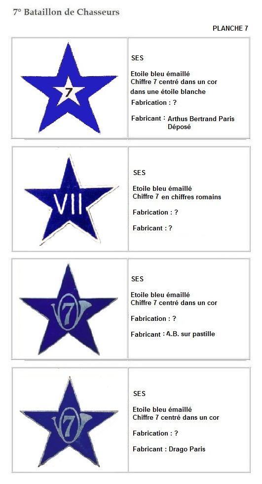 Les insignes de bataillons- Mise à jour... 7e_pla17