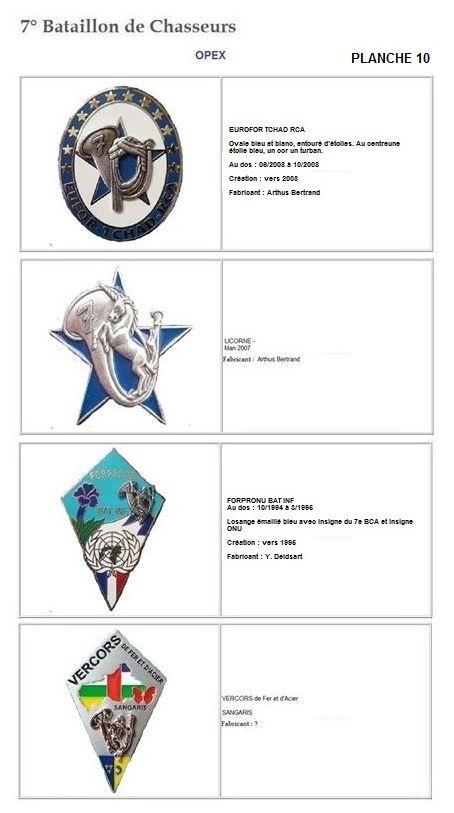 Les insignes de bataillons- Mise à jour... 7e_pla19