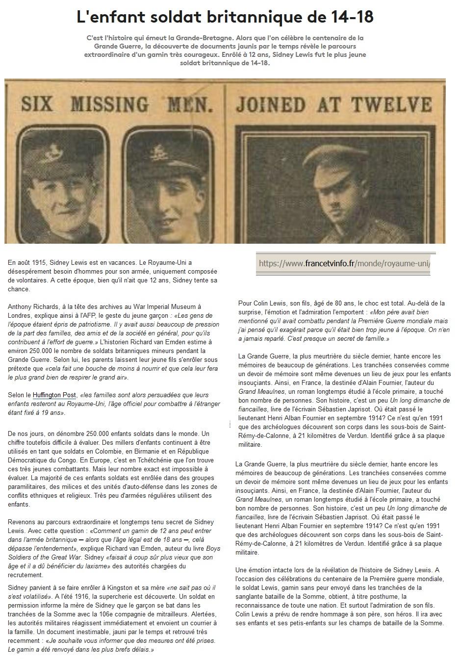 Les enfants-soldats de la Grande guerre. Britan10