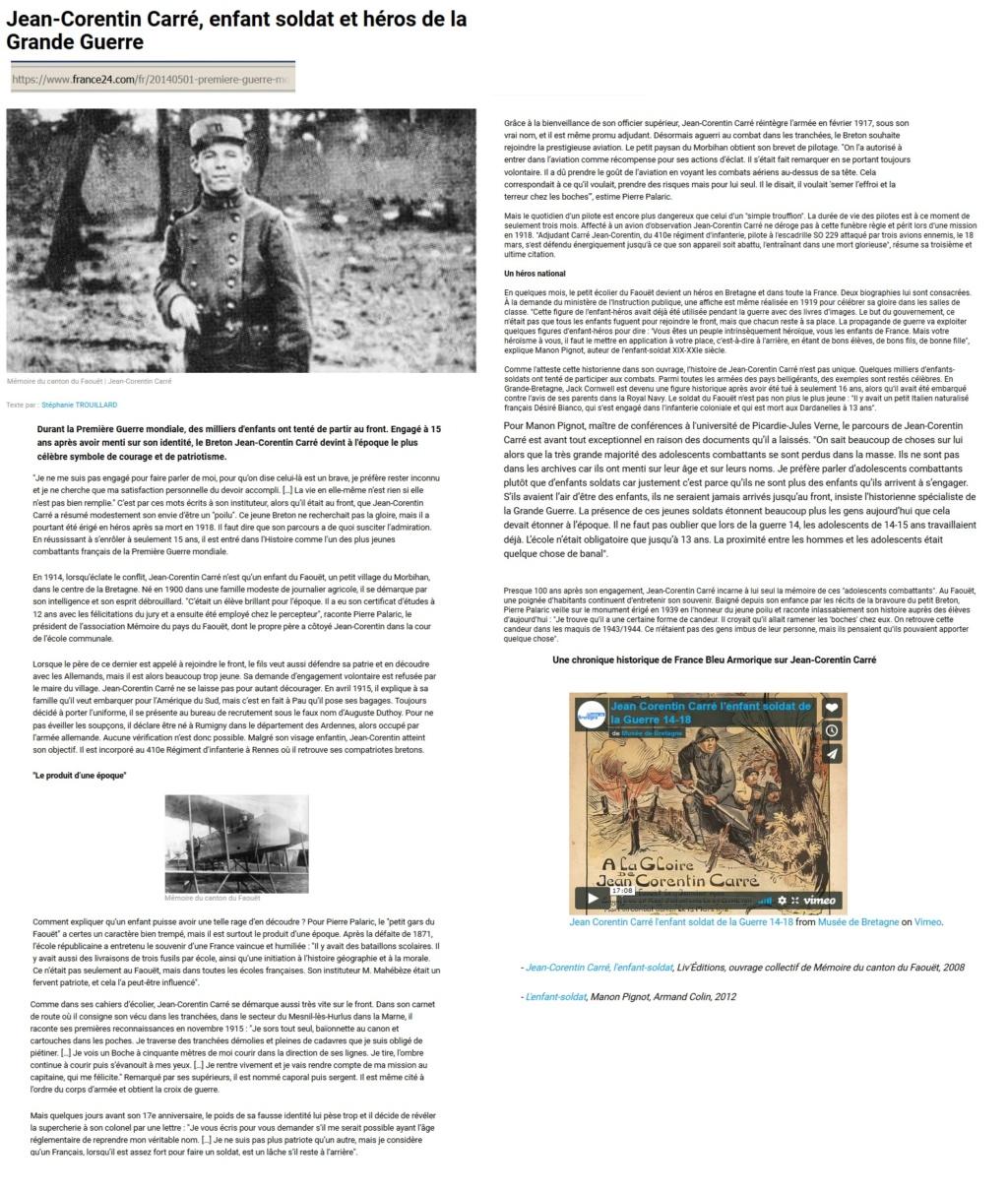 Les enfants-soldats de la Grande guerre. Corent10