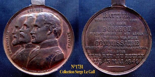 Médaille de la Révolution de 1848 ... 173116