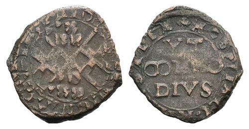 Monnaie usée inconnu.. 2 croix.. étrangère ? romaine Antonius ? Malte_10
