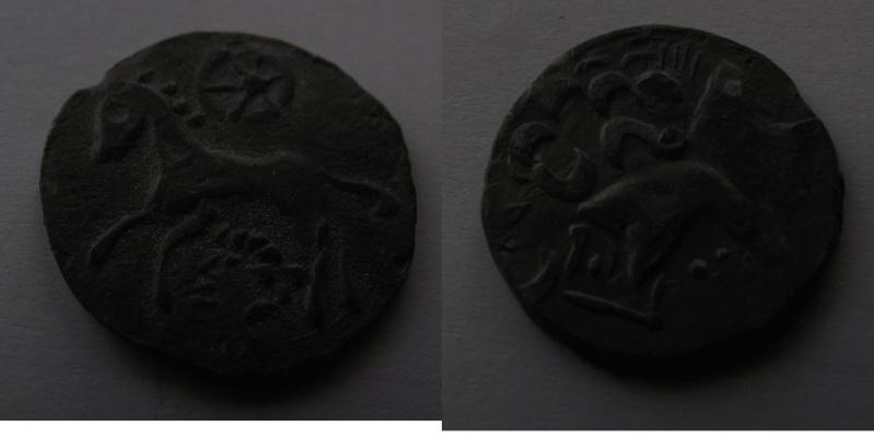 oeuvre d'art moderne inspirée de la numismatique arvenne (faux en étain) Mystar10
