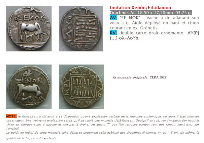 """Drachme grecque pour l'Illyrie, dite """"à la vache allaitante"""" Site_d10"""