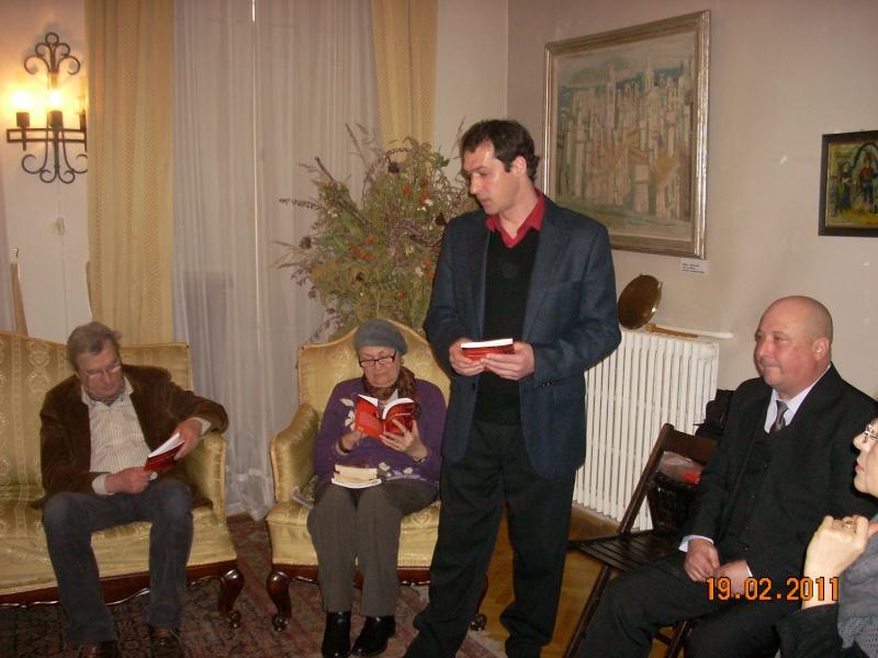 """19 februarie 2011-Sedinta a X-a Cenaclului U.P.-lansare de carte-""""Paralelele Sufletului""""-Florin Stratulat Cenacl11"""