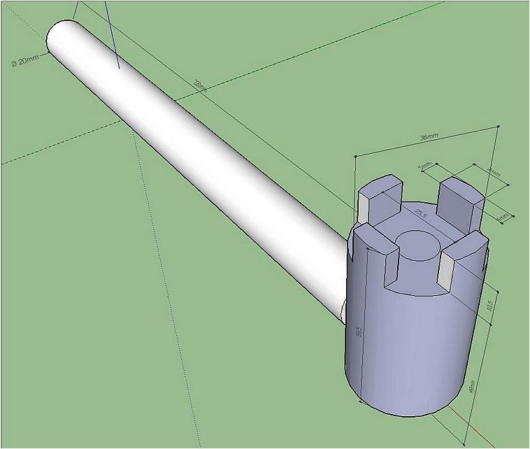 Une clé de serrage pour fers de R/D Cle_po10