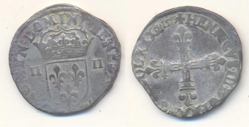 HENRI III - Quart d'écu 1579 Angers Quart_12