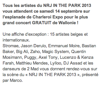 (14/09/13) LIVE VIDEO du NRJ in The PARK  Captu933