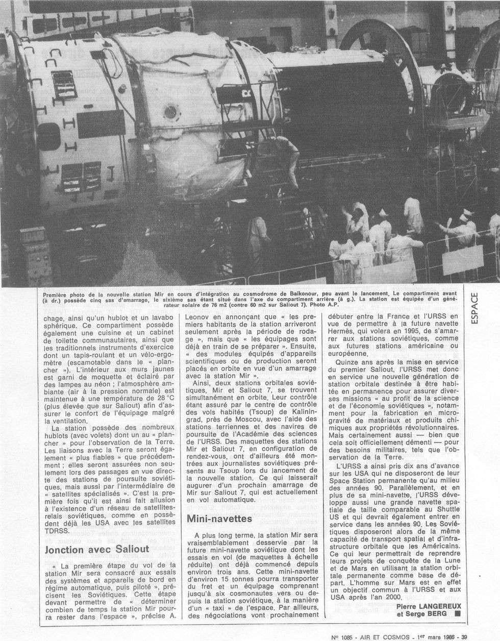 19 février 1986 - Station Spatiale MIR 86030111