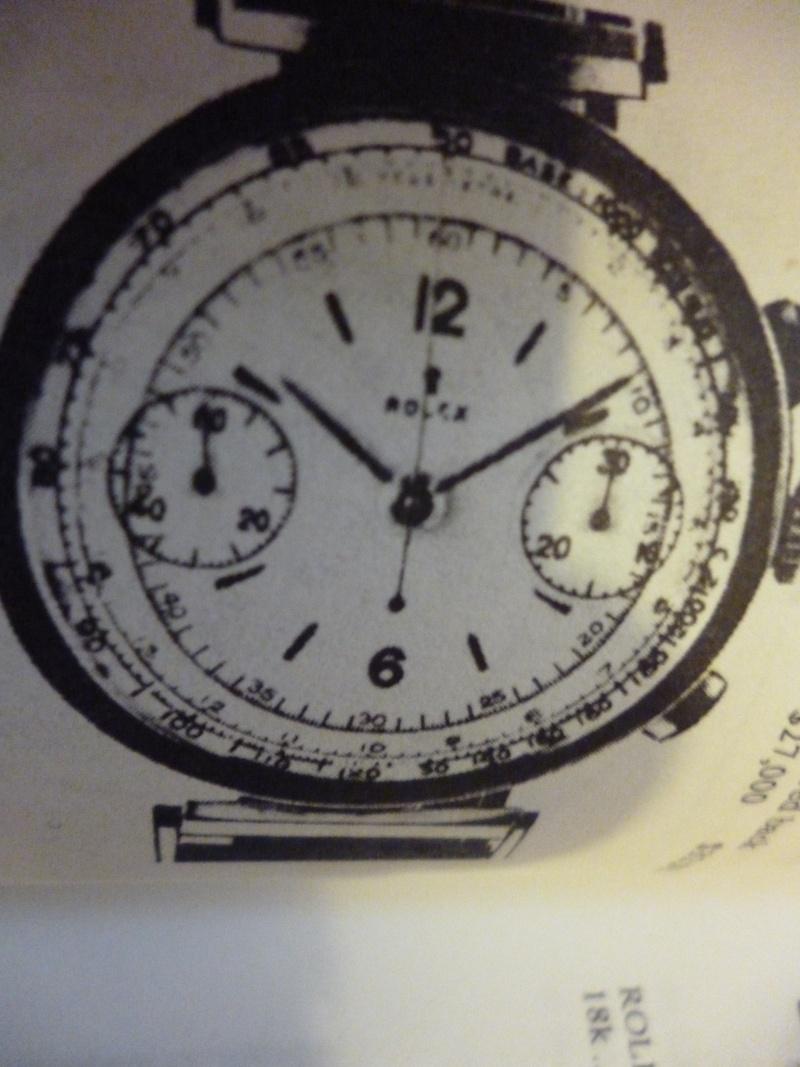 PIECE EXCEPTIONNELLE : TRES RARE Rolex chronograph 2 compteurs, anses articulées, référence 2705, numéro 38325,  acier des années 30; toute signée. Admin_15