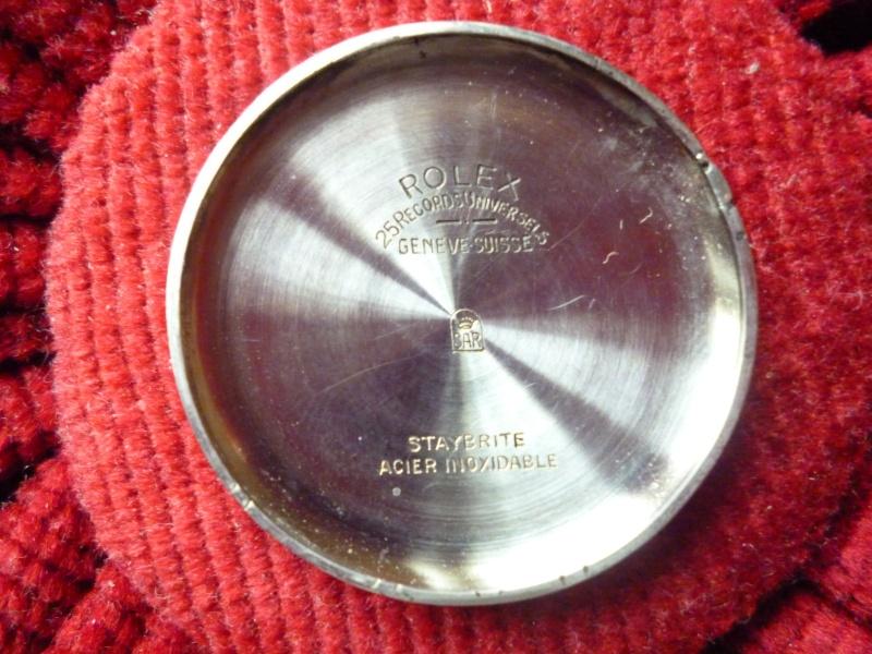 PIECE EXCEPTIONNELLE : TRES RARE Rolex chronograph 2 compteurs, anses articulées, référence 2705, numéro 38325,  acier des années 30; toute signée. Rolex_15