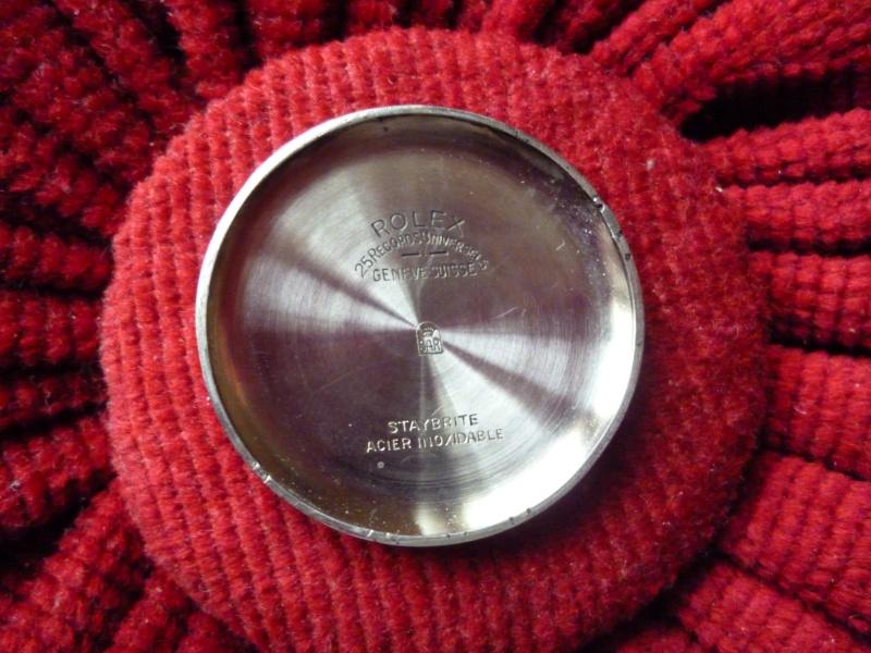 PIECE EXCEPTIONNELLE : TRES RARE Rolex chronograph 2 compteurs, anses articulées, référence 2705, numéro 38325,  acier des années 30; toute signée. Rolex_16