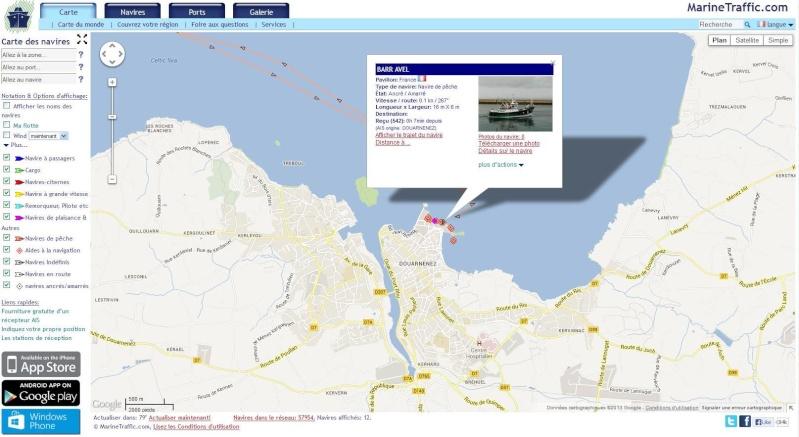 Géolocalisation des sardines en boite Barr10