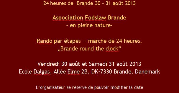 """NEW:  """"Brande round the clock"""" (Danemark): 30-31 août 2013 24_heu12"""