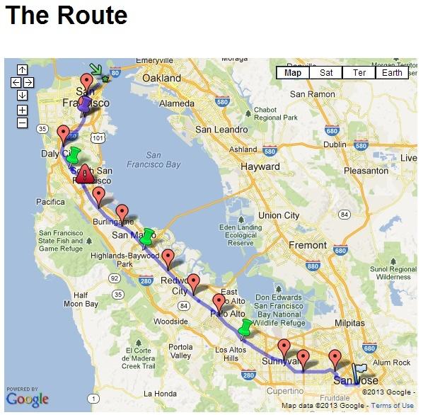 """""""Walk the Commute"""" 50EM San Jose-San Francisco: 01/06/2013 Commut11"""