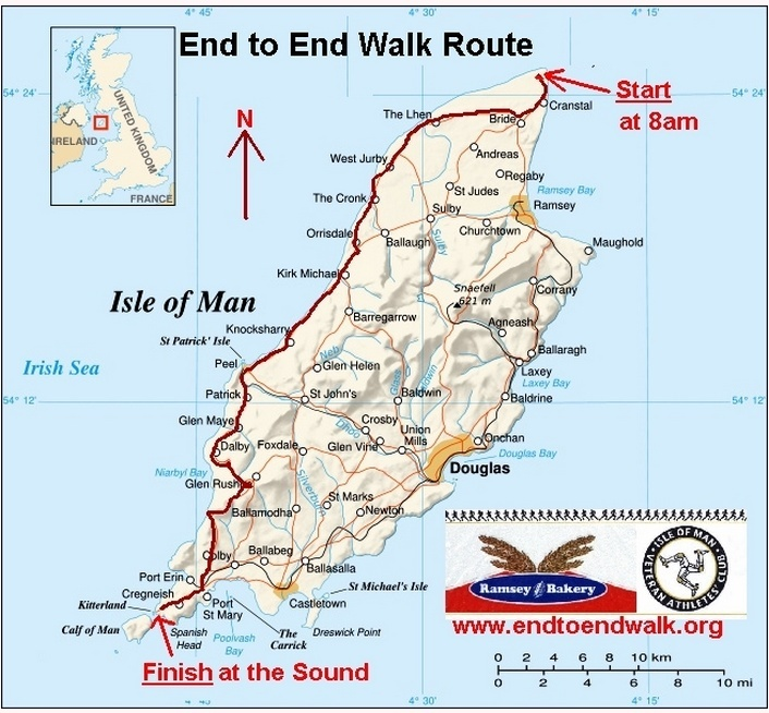"""End to End Walk"", 63 km en ligne, Isle of Man: 22/9/2013 End_to10"