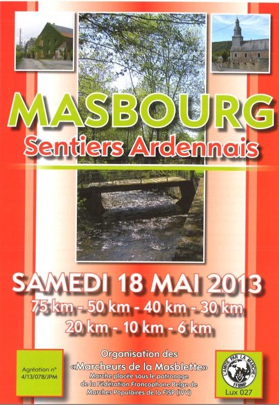 "75km, etc. ""Sentiers Ardennais"" à Masbourg (B): 18 mai 2013 Masbou10"