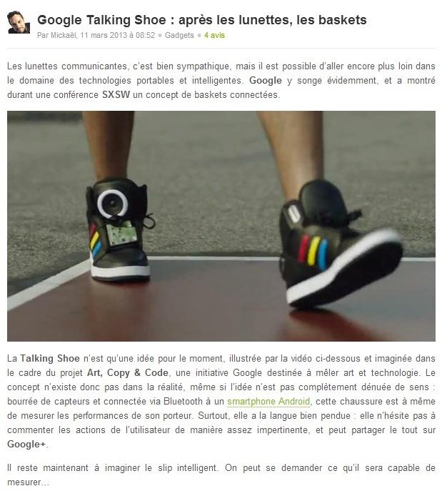 Chaussures pour geek Talkin10
