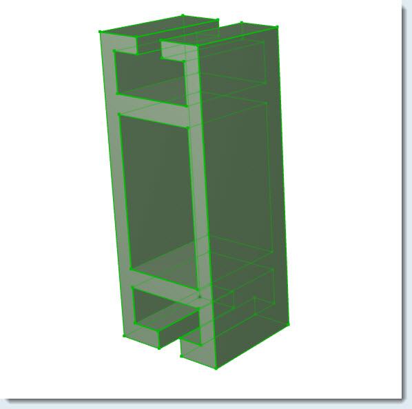....hacer un marco de ventana con un perfil propio, usando la herramienta Forma? 16030815
