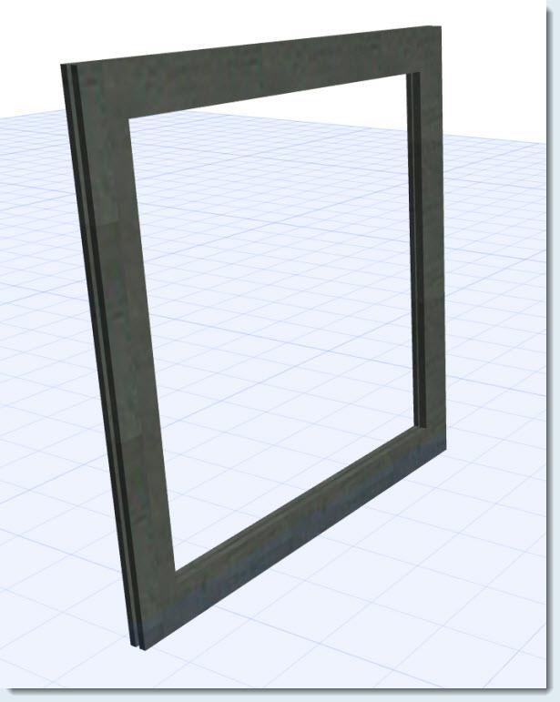 ....hacer un marco de ventana con un perfil propio, usando la herramienta Forma? 16030818