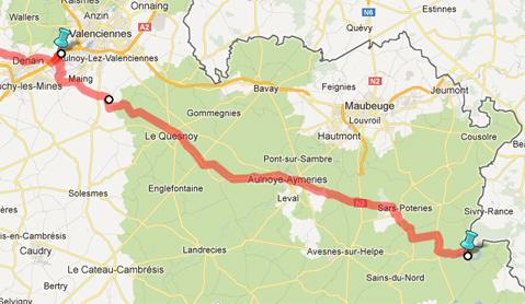 Traversée du Nord Pas de Calais en diagonale (début avril 2013) Tempo114