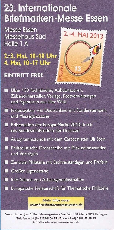 Int. Briefmarkenmesse Essen 2.-4. Mai 2013 Bild0010