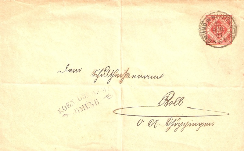 Alte Post aus Württemberg Bmforu22