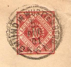 Alte Post aus Württemberg Bmforu23